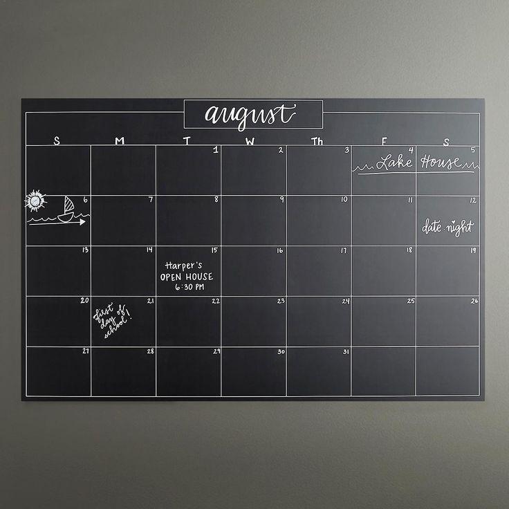 Wallies Black Chalkboard Calendar Chalkboard Calendar