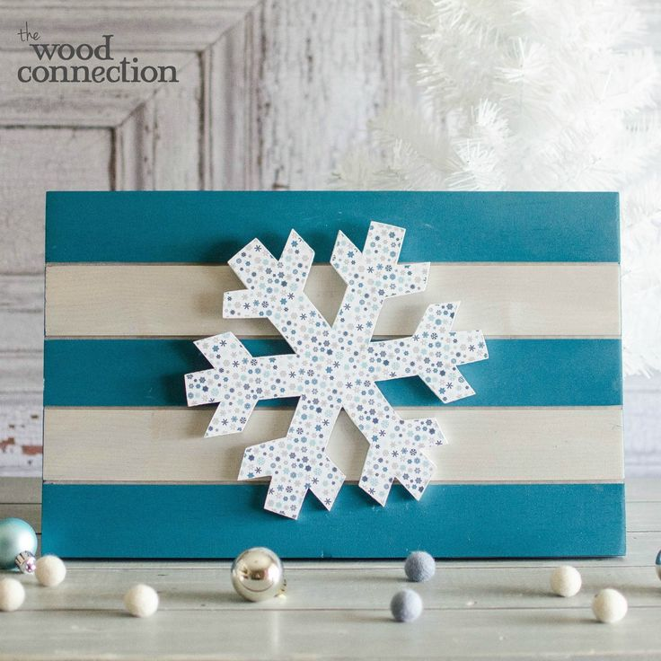 DIY Wood Snowflake Sign 61 best Winter