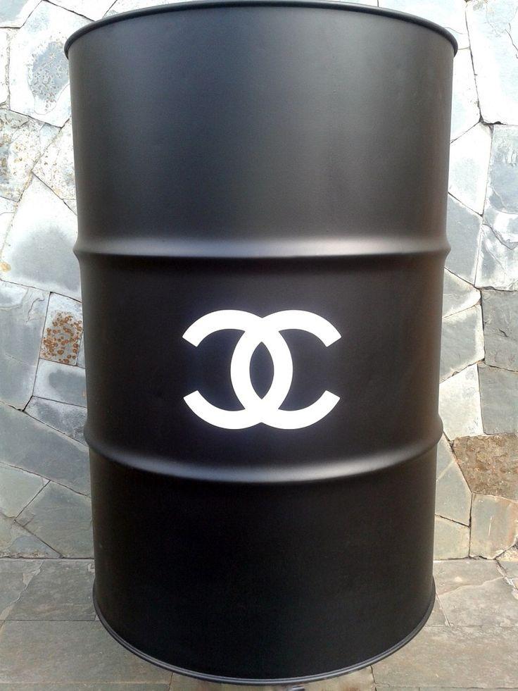 tambor | barril | tonel decorativo chanel - Contato: biadamasarquiteta@gmail.com