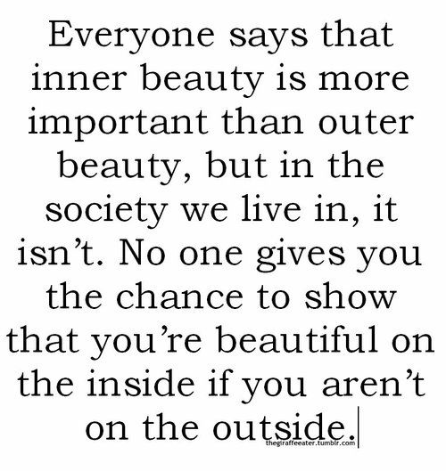 real beauty is on the inside essay The inner beauty of a person is what they truly are on the inside and out they might act one way or another around their friends and family members but their inner beauty is what defines them as a human being.