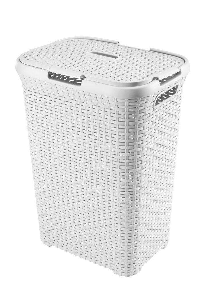 Vasketøjskurv RONALD B34xL45xH62cm hvid | JYSK
