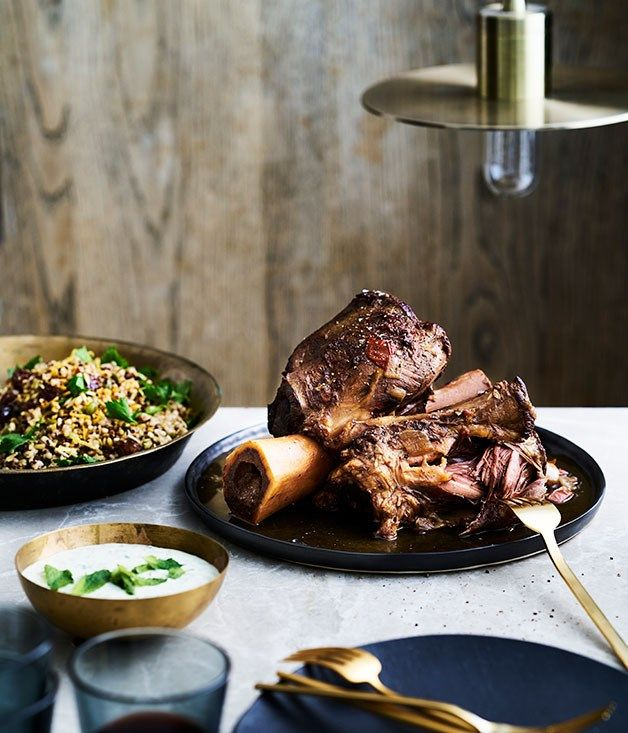 The Henry Austin's braised beef shin with grain salad and yoghurt sauce