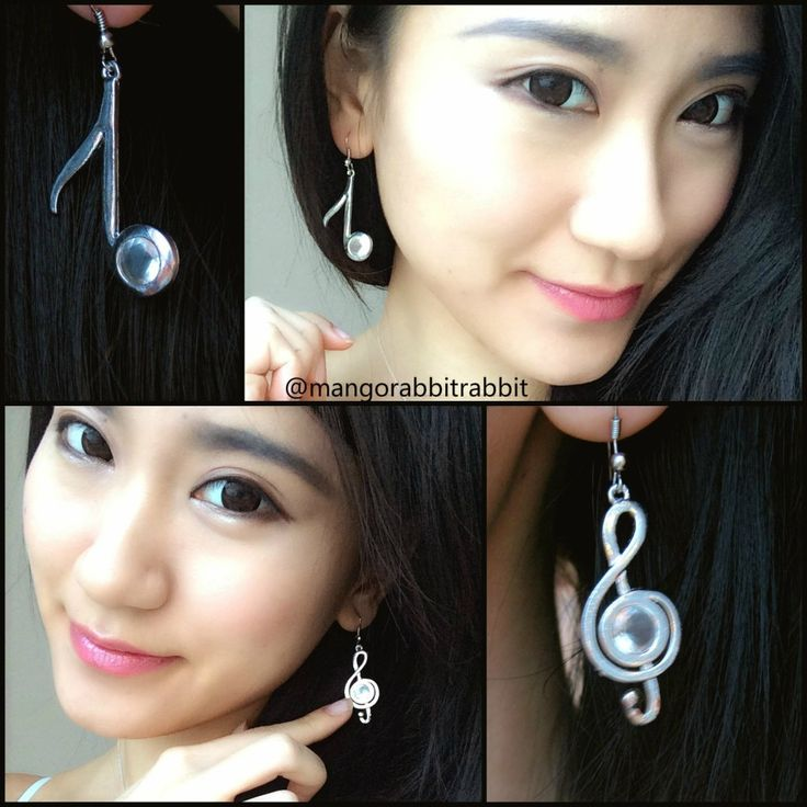$3.29 1 Pair Earring Elegance Music Notation Symbols Asymmetric Ear Hook Earrings - BornPrettyStore.com