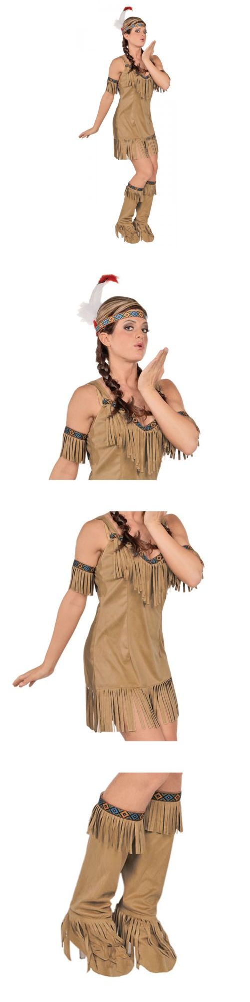 Women Costumes: Native Princess Pocahontas Indian Girl Costume Halloween Fancy Dress -> BUY IT NOW ONLY: $22.69 on eBay!
