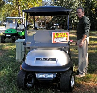 How to determine used golf cart prices for an electric golf cart?  Click on the picture for your guide to used golf cart values.