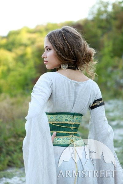 Medieval Renaissance Flax Corset Belt Mistress Of The Hills. $113.00, via armstreet on Etsy.