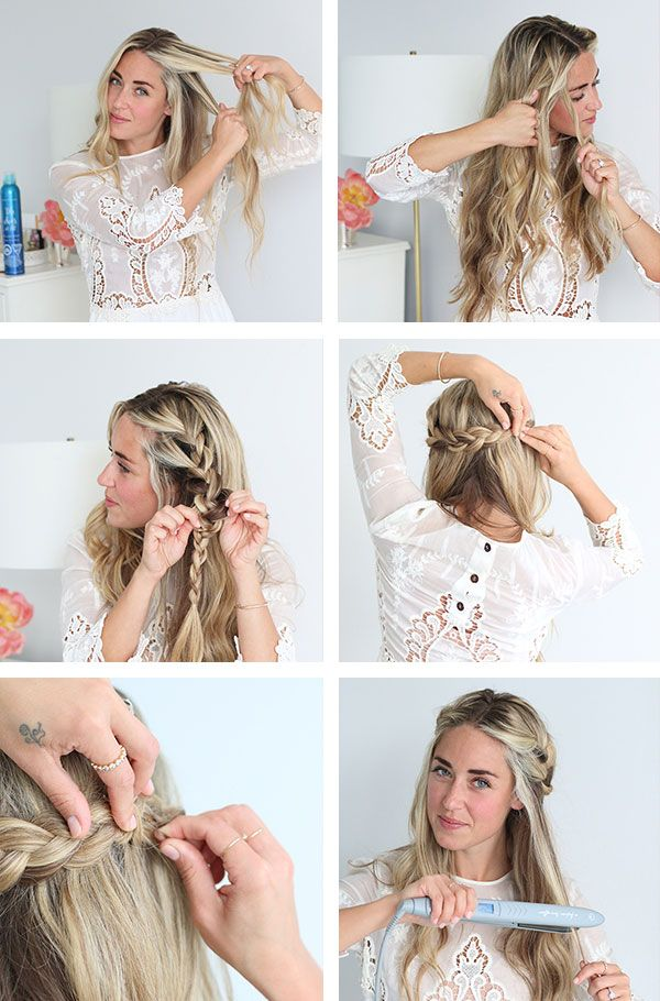 Easy braided half updo tutorial.