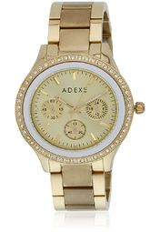 Adexe Tw000s805 Golden/Golden Analog Watch Online Shopping Store