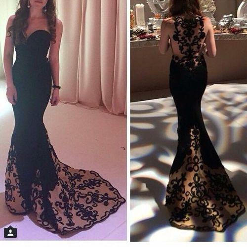 Charming Prom Dress ,Long Black Prom Dress ,Embroidered Prom Dress,Long Fitted Prom Dress,Black Evening Dress for Women Formal ,Formal Dress