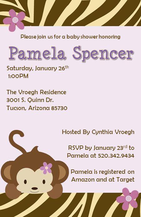 Printable Baby Shower Invitations Jacana by PamelasDigitalPrints, $5.00