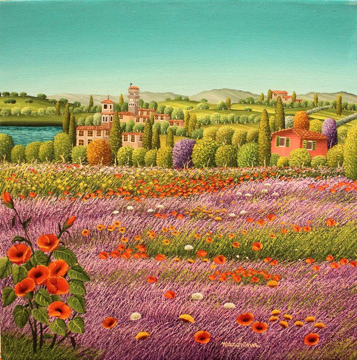 """Cesare Marchesini, """"Springtime"""", 2014, Oil on canvas, 40X40cm"""