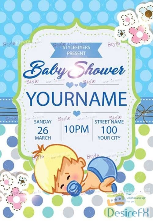 Baby Shower V11 2018 Psd Flyer Template Graphics Psd Flyer