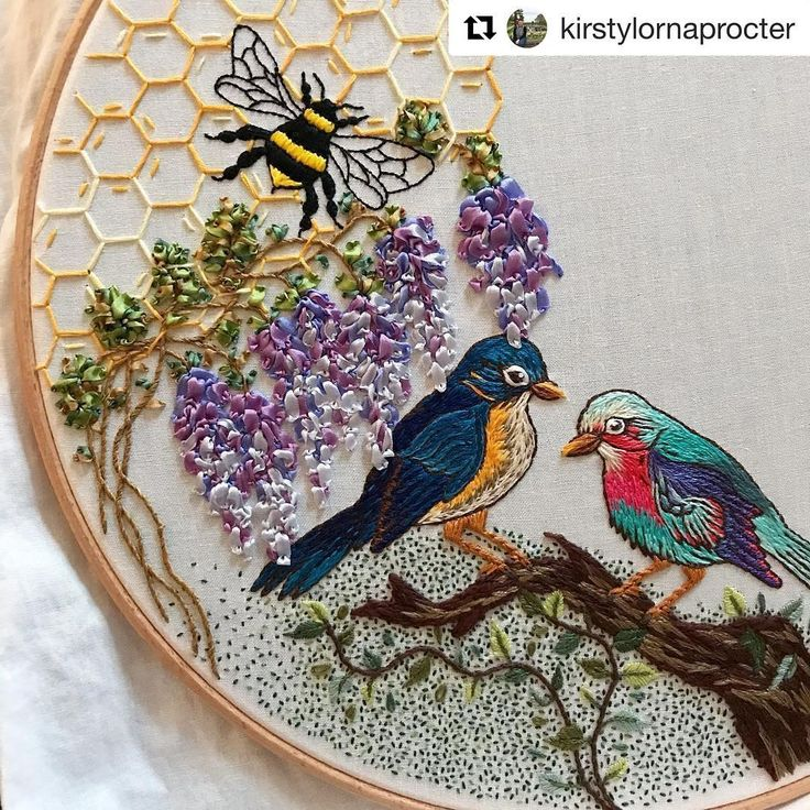 @kirstylornaprocter #ribbonembroidery #needlework #handembroidery #ricamo #bordado #broderie #embroidery