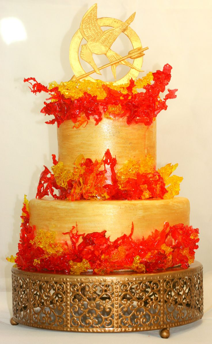 Hunger Games Catching Fire cake - Sweet Bailey's Cakes, Noblesville, IN