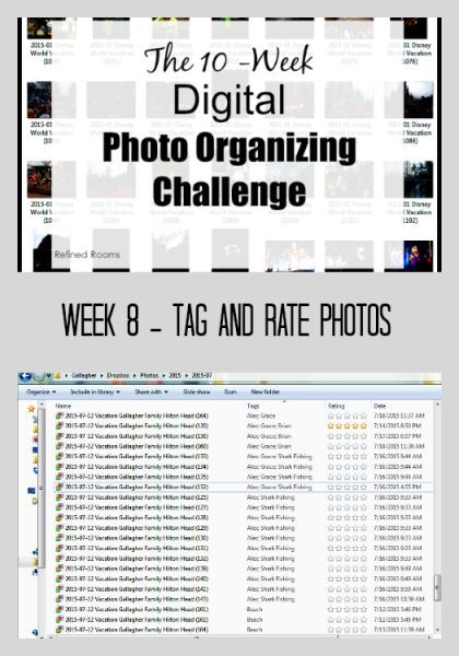 Week 8 – Tag and Rate Photos {Digital Photo Organizing Challenge}