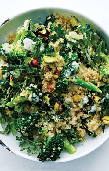 Broccoli Quinoa Salad (added cucumber, dill, and cilantro; subtracted tarragon) So good!!!