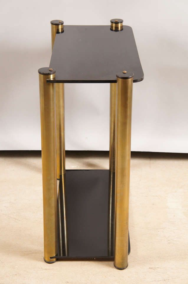 Modern Brass and plexiglass table image 2