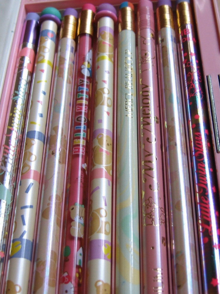 80s sanrio pencil collection