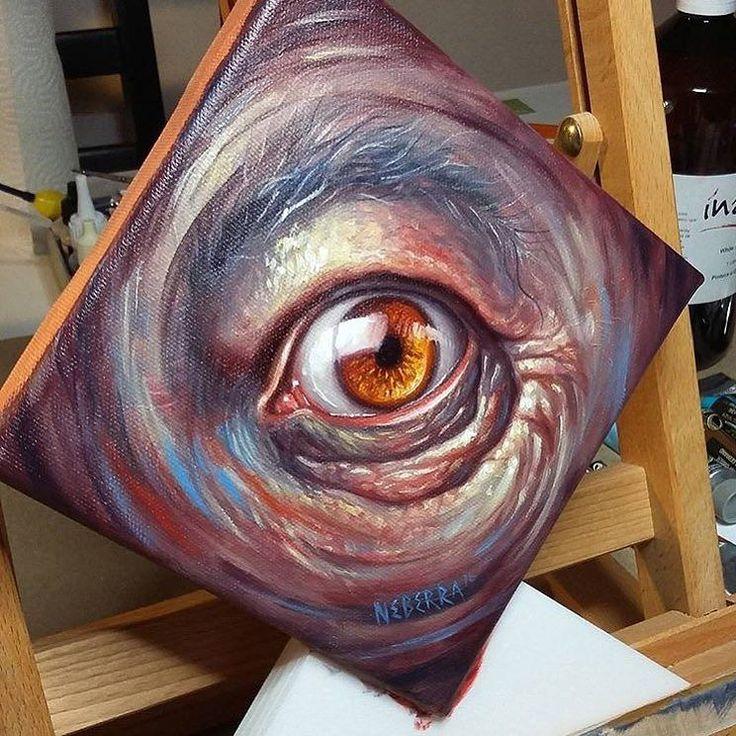 Great eye study painting by Paul Neberra - @neberra  http://ift.tt/16Wfb3Q digital books | vectors | fonts | art supplies by illustratedmonthly