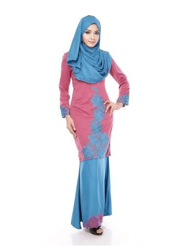 Maribeli Butik Rossa Kurung – Boysenberry Blue Turquoise from Maribeli Butik in Blue and Purple