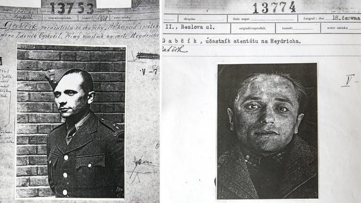 Jozef Gabčík (on the right - postmortem photo).