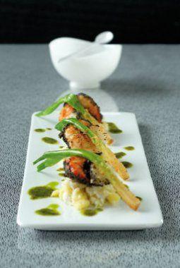 Brandade van kabeljauw, scampi met maanzaad, gepaneerde lente-uitjes - Philippe Van den Bukck - Culinaire Ambiance !