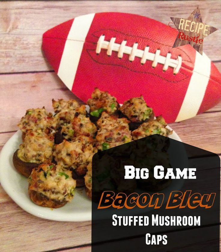 It doesn't matter who wins or loses the Big Game, These Bacon Bleu Mushroom Caps Appetizers will be a guaranteed win at your Superbowl Party!  - Recipe Rustle