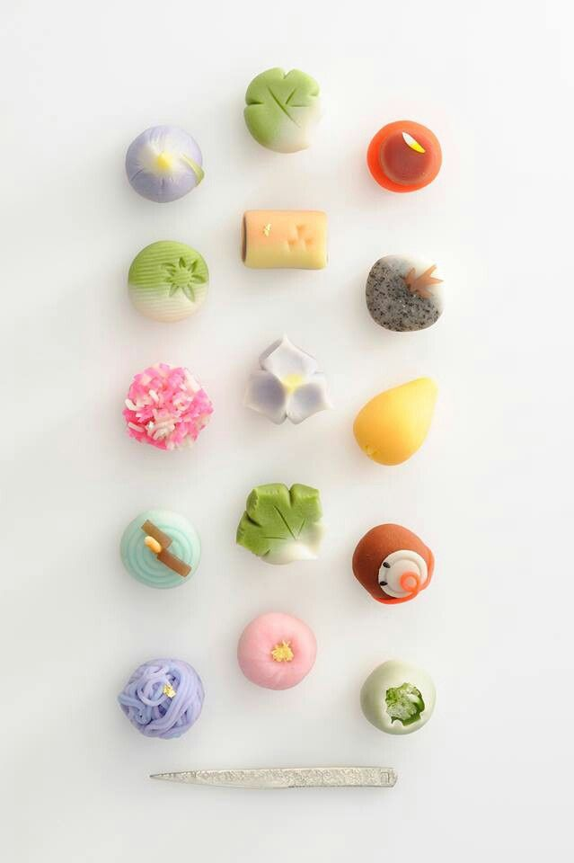 Cute Japanese sweets. #Japan #Sweets #Wagashi