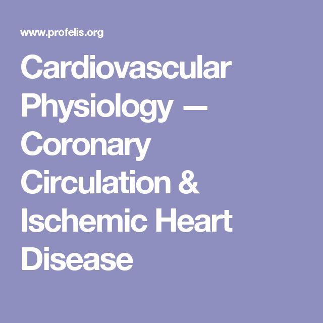 Cardiovascular Physiology — Coronary Circulation & Ischemic Heart Disease