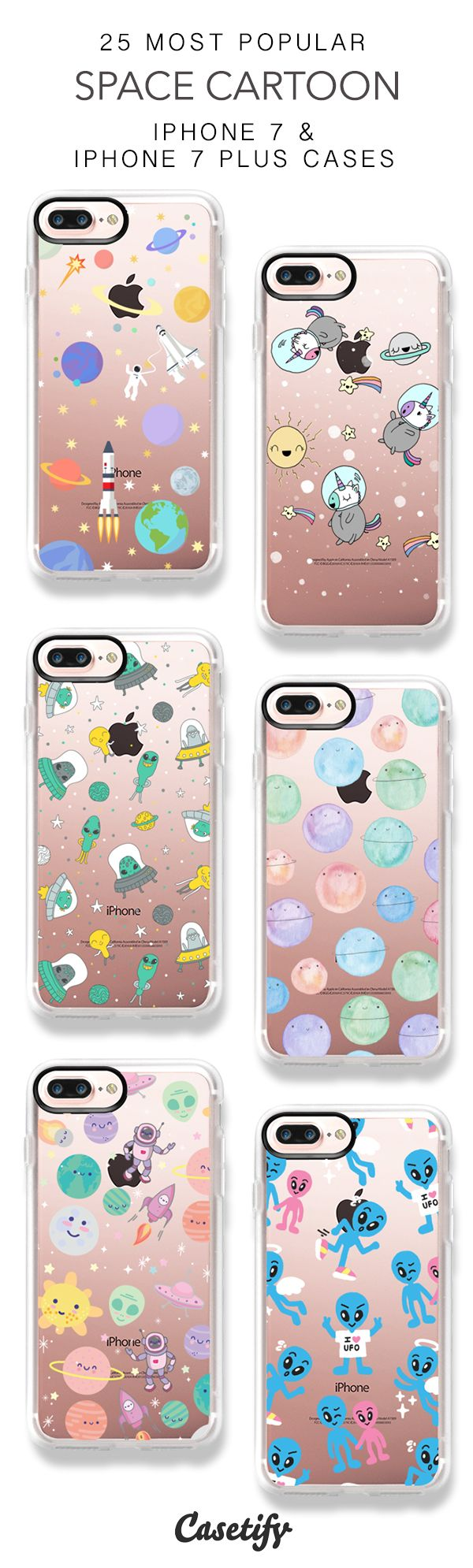 25 Most Popular Space Cartoon iPhone 7 Cases and iPhone 7 Plus Cases. More Cute iPhone case here > https://www.casetify.com/collections/top_100_designs#/?vc=algSgo072f