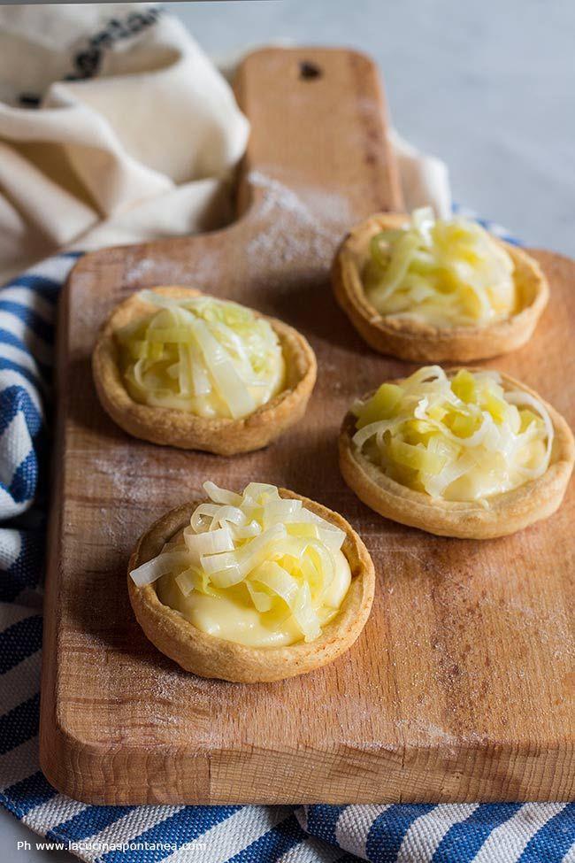 Tartelette con crema pasticcera salata e porri | La Cucina Spontanea | Bloglovin'