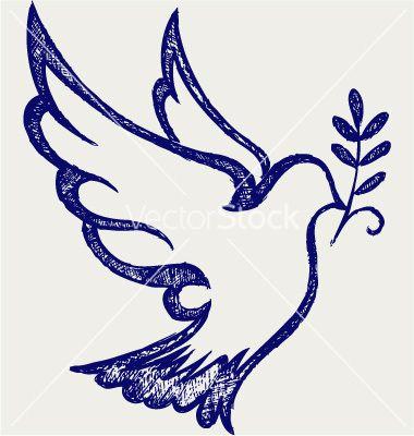 Dove symbol vector on VectorStock®