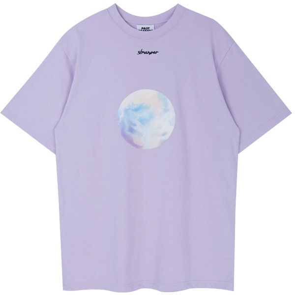 Pastel Circle Print T-Shirt ($25) ❤ liked on Polyvore featuring tops, t-shirts, loose t shirt, bunny t shirt, loose fit t shirts, half sleeve tee and purple t shirt