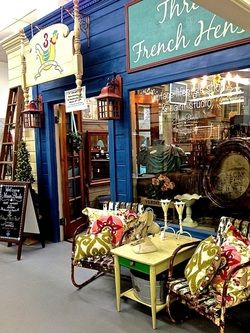 check out this paint studio called three french hens located inside university pickers antique mall in huntsville alabama