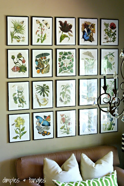 Love the botanical print wall in the breakfast nook update.