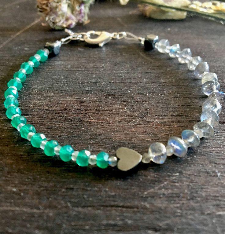 A personal favourite from my Etsy shop https://www.etsy.com/no-en/listing/523970254/sweet-in-green-onyx-stone-bracelet-green