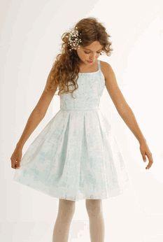 "Biscotti ""Tea Party""  Aqua Tween Party Dress  *Top Seller* 7 8 14"