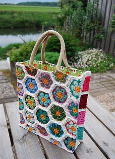 kabeltrui's african flower shopper bag