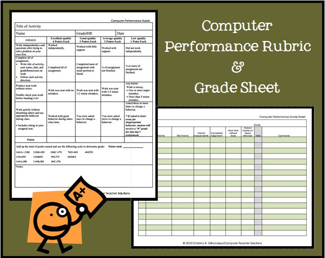 The Computer Class Performance Rubric is ideal for evaluating Middle and High School students' performance. Computer teachers most often have many ...