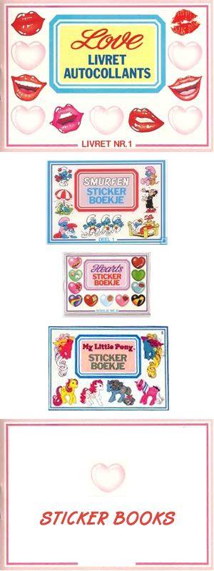 Sticker Books #Klistremerker - Samlinger i små bøker #Stickerboekje