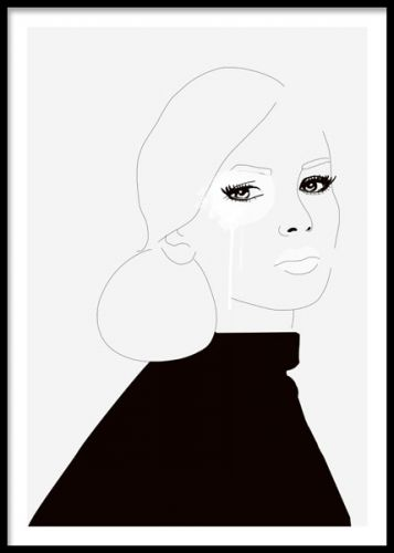 Art poster with an illustration of a woman. This print looks great just by itself or in combination with some of our other posters in a personalized art collage. A fashion print that fits well in most homes. Desenio.co.uk