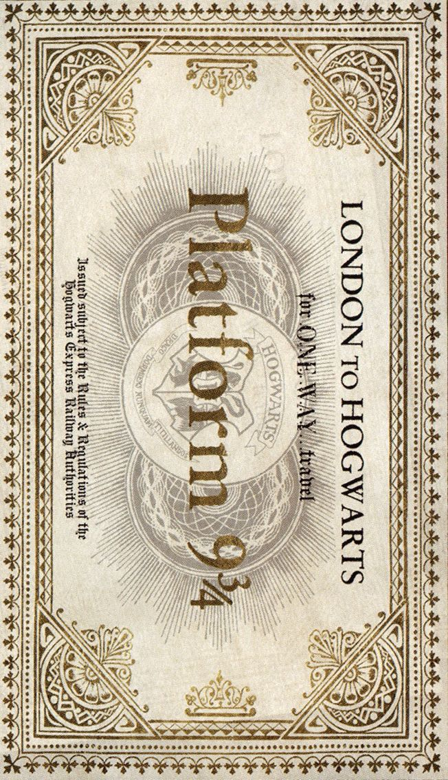 Harry Potter plataforma 9/3 … Mais