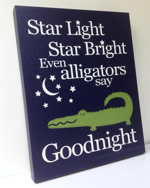 Alligator Nursery Decor Green And Navy Blue Wall