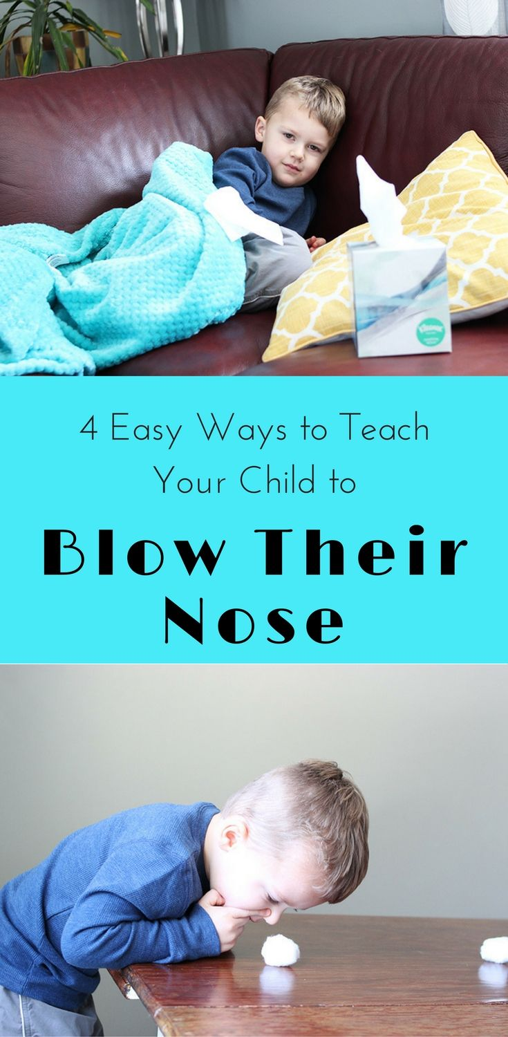 Runny noses are the worst, especially when your kids can't blow their own nose. I'm sharing 4 easy and fun ways to teach children to blow their own nose. With cold and flu season, be sure to tackle this concept for a happier and healthier home. #takecarewithkleenex #ad