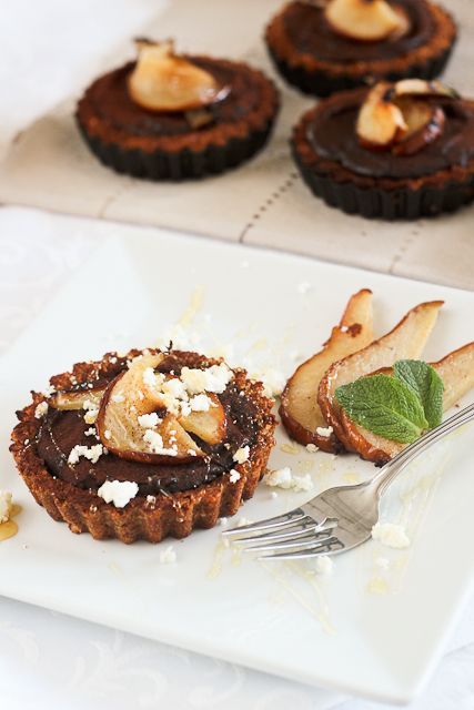 ... caramelised pear goat cheese and chocolate tartlets recipe untried