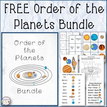 Planet matching is a great reinforcement task when teaching a unit on the solar system.This task includes 11 pages: Cover, sun and eight planets (color and black outlined) for a file folder matching task, planet list visual aid poster, a planet mnemonic poster, individual planets for bulletin board use, and direction and credits page.*****************************************Earn TPT credits to help with other purchases by doing the following:Log into TPT.