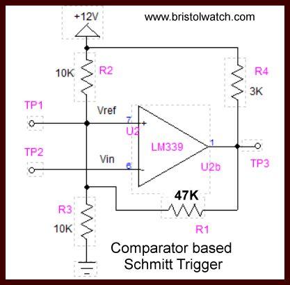Comparator based Schmitt Trigger
