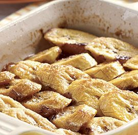 Baked Plantains with Brown Sugar & Rum Simple and delicious dessert