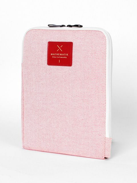 MATHEMATIK M1 Pouch Red Checker(Tablet PC case)