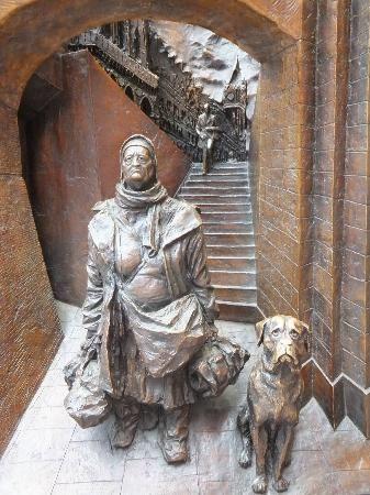 St. Pancras Station: The Bag Lady & friend